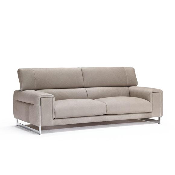 Tapizados en piel elegantes y refinados for Ofertas de sofas en piel