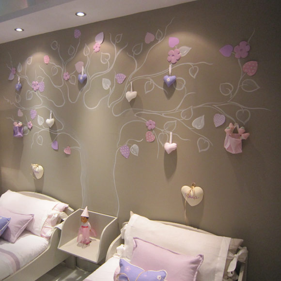 Decoracion habitaciones girls kids bedrooms dormitorio for Decorar paredes con pintura