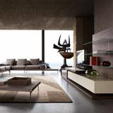 El salón, de nuevo, minimalista