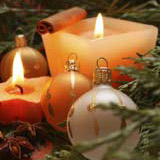 Velas para crear ambiente en Navidad