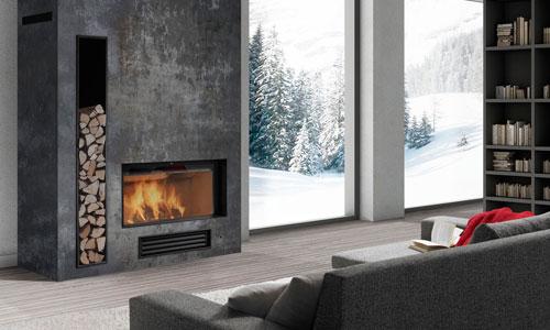 Chimeneas calor y dise o en tu hogar - Decoracion salon con chimenea ...