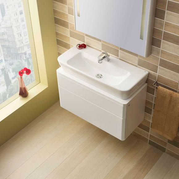 El mayor acierto de este lavamanos (con opción de mueble incorporado
