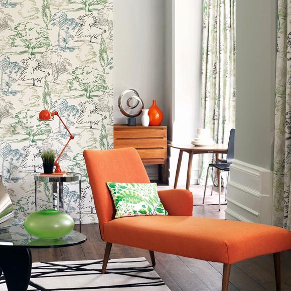 Paredes primaverales con papel pintado - Maison decor papeles pintados ...