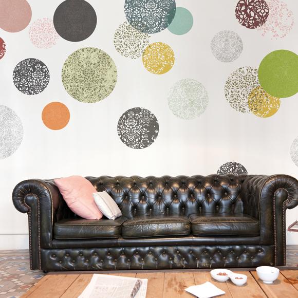 Paredes primaverales con papel pintado foto 2 - Papel pintado letras para paredes ...