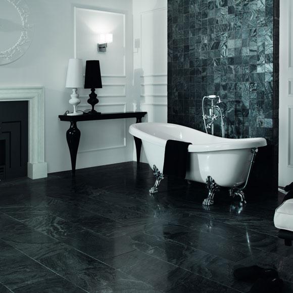 Bañeras exentas: diseño en el cuarto de baño - Foto