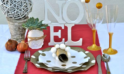 Productos desechables para la mesa de Navidad