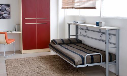 Aprovecha el espacio con camas abatibles - Hacer cama plegable pared ...