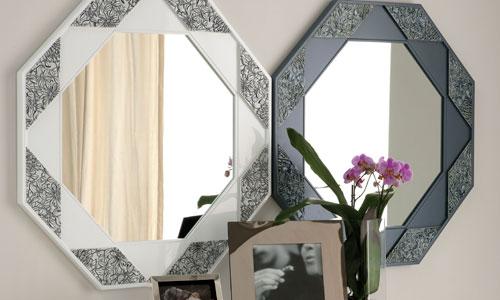 los espejos de forma octogonal de la serie uwall artu son ideales para colocar en la entrada sobre una consola pulsa en la imagen para acceder a la