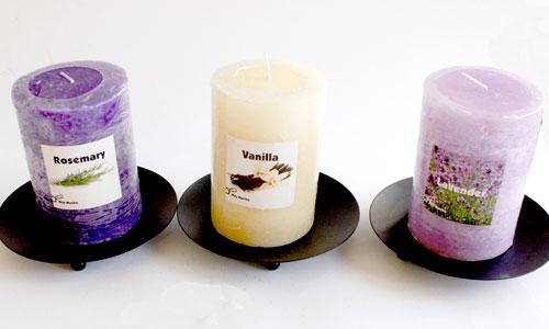 Velas aromáticas: perfumes muy decorativos