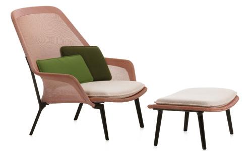Muebles y accesorios para ver la vida de color de rosa