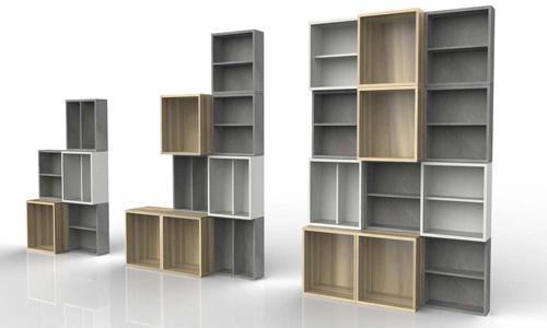 Monta la estantería que necesitas con estos módulos de Habitat