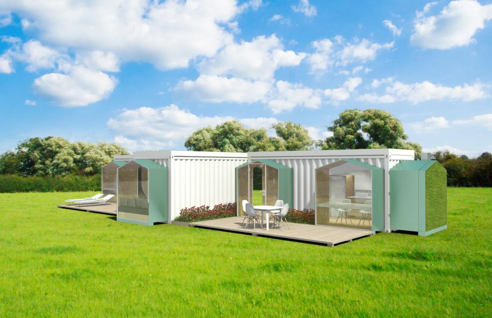Viviendas construidas con contenedores marinos - Casa hecha con contenedores ...