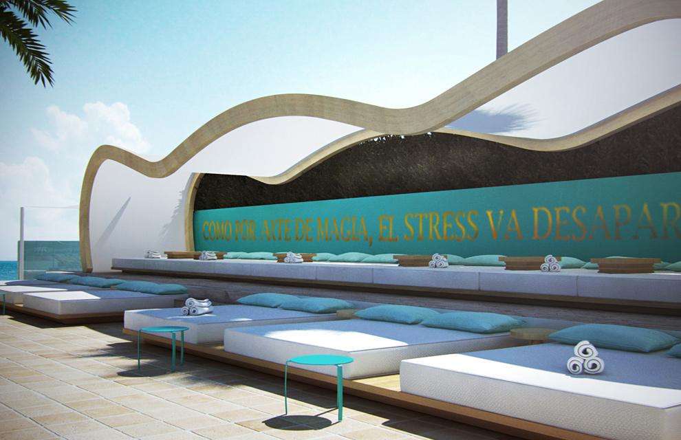 El turquesa del Mediterráneo inunda el hotel Santos