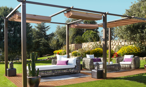Cenadores y p rgolas carrefour para jard n o terraza for Carpas jardin carrefour