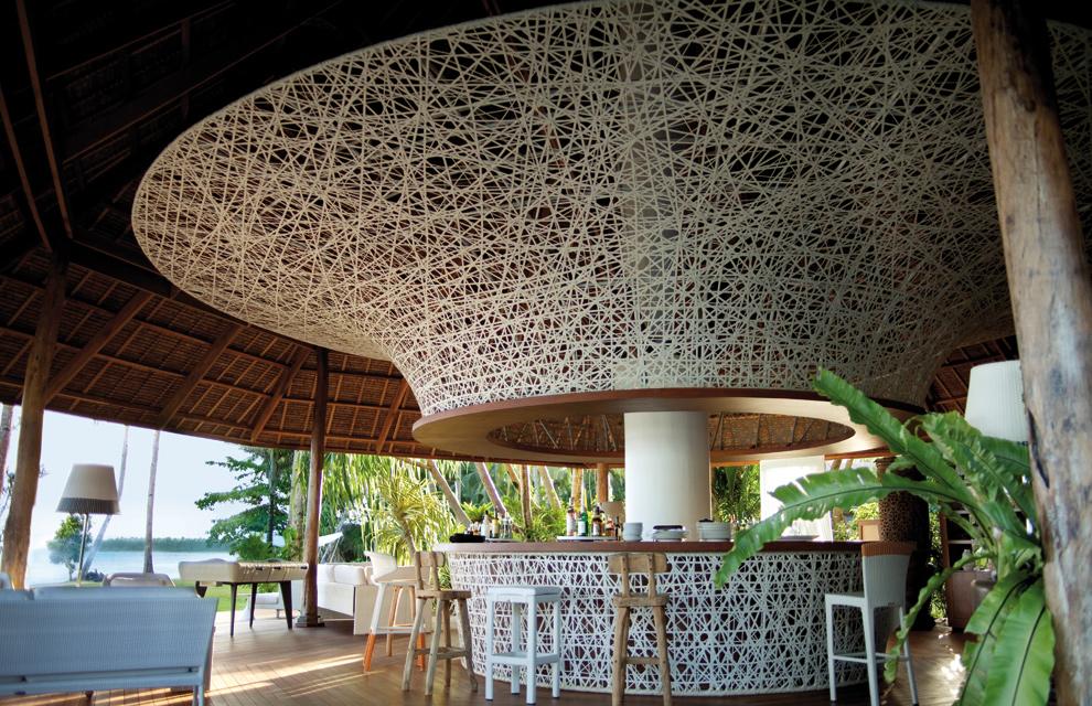 Dise o y sostenibilidad en dedon island for Pabellones arquitectura efimera