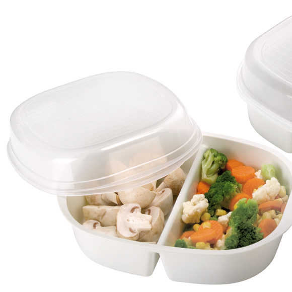 Accesorios para cocinar con microondas foto 1 for Recipientes para cocinar al vapor