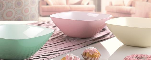 Los accesorios en color pastel en la cocina