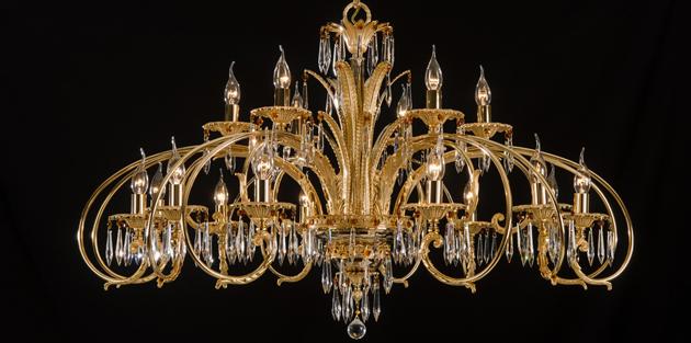 Las lámparas de suspensión de estilo barroco