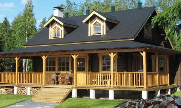 Casas de madera modulares sostenibles y muy bonitas for Modelos de techos para galerias