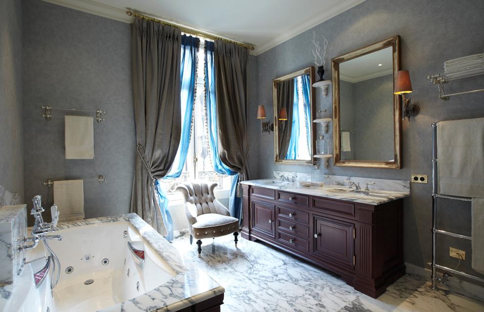 lujo y mucho estilo en un gran apartamento de par s. Black Bedroom Furniture Sets. Home Design Ideas