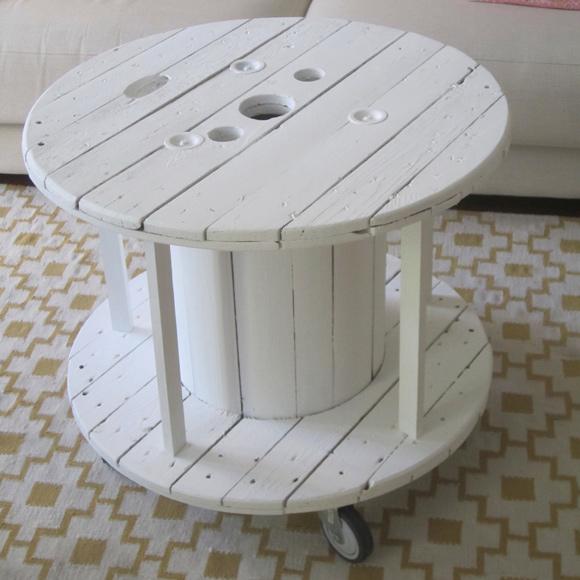 Una original mesa realizada con una bobina de cables - Como hacer mesas ...