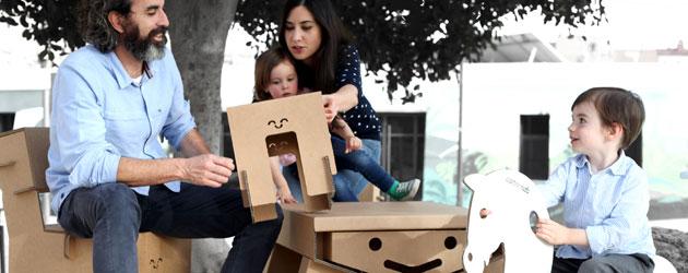 Muebles de cartón: ecológicos y resistentes