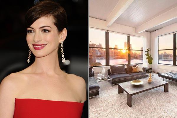 Te mostramos el apartamento que Anne Hathaway ha puesto a la venta en Nueva York