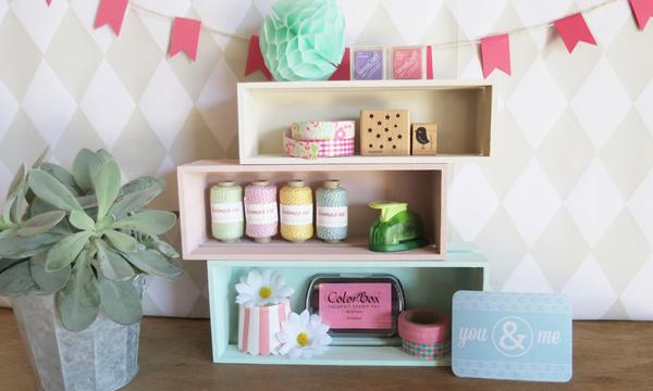 Recicla cajas de cerezas y personalízalas con un toque de pintura
