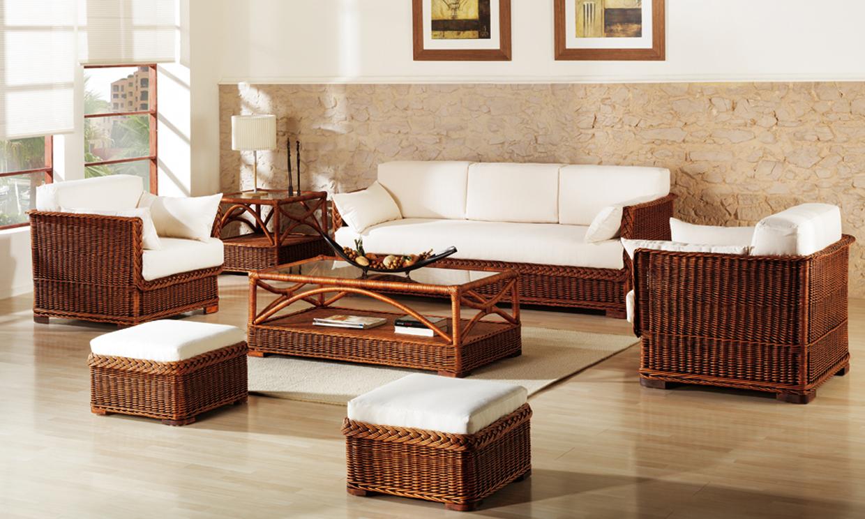 En verano muebles de mimbre for Muebles con cestas