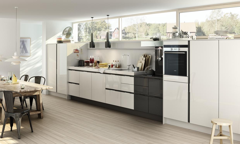 Las cocinas blancas vuelven a ser tendencia foto 4 - Cocinas blancas y gris ...