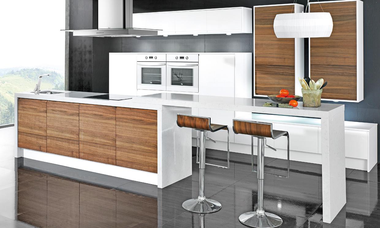 Las cocinas blancas vuelven a ser tendencia foto - Encimeras de marmol para cocinas ...