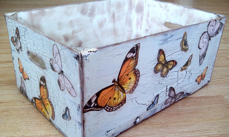 Es el momento de conseguir una preciosa caja en 39 decoupage 39 - Cajas fruta decoracion ...