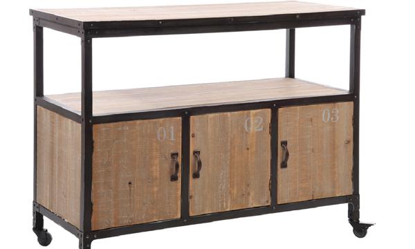 Muebles Metal : El metal también es un buen material para los muebles