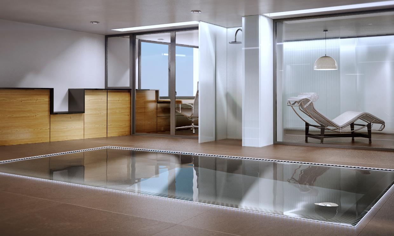 No te pierdas esta espectacular vivienda de dos plantas for Diseno de casas con piscina interior
