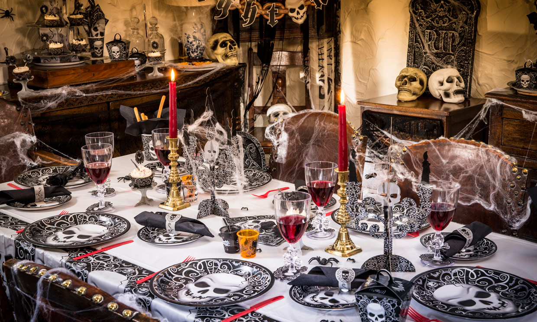 Truco o trato decora tu casa para la noche m s - Decoracion mesa halloween ...