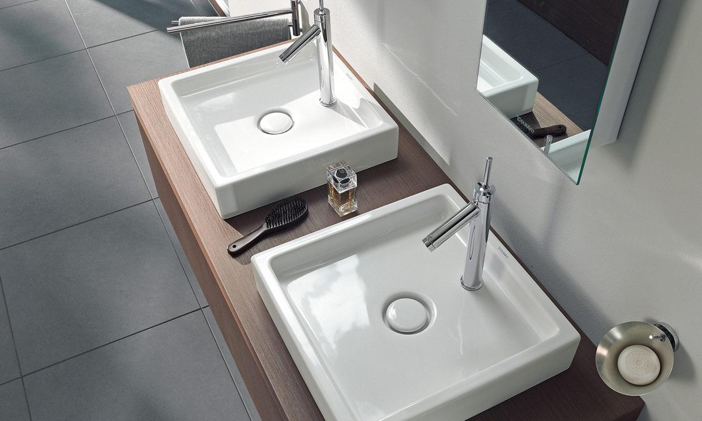 Mira qu bonitos lavabos sobre encimera foto 3 - Lavabos dobles sobre encimera ...