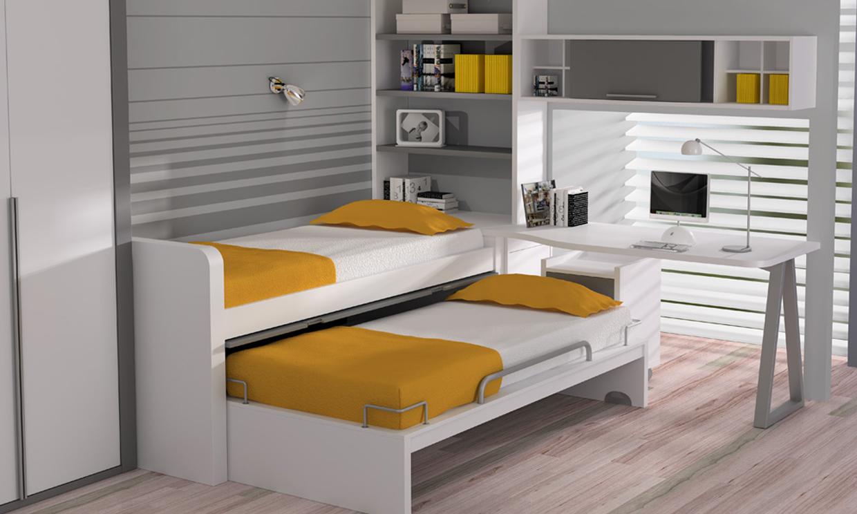 Dormitorios infantiles ideas para una buena distribuci n - Dos camas en una ...