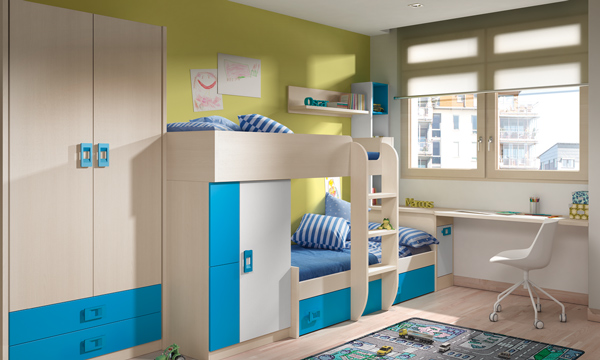 Dormitorios infantiles compatidos ideas para una buena for Ideas para decorar dormitorios infantiles