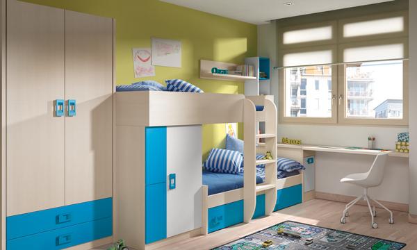 Dormitorios infantiles compatidos ideas para una buena distribuci n del espacio - Caballeros y princesas literas ...