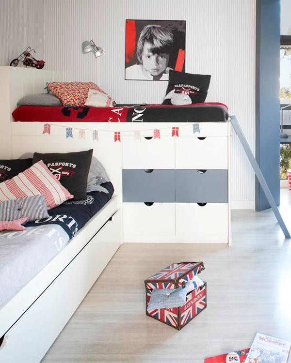 Dormitorios infantiles compatidos ideas para una buena - Dormitorios juveniles para dos hermanos ...