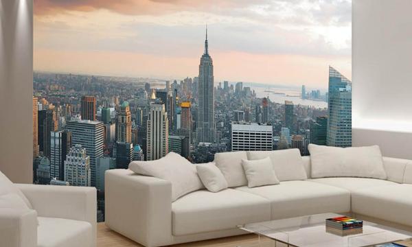 Paredes con personalidad para casas con car cter for Vinilos pared new york