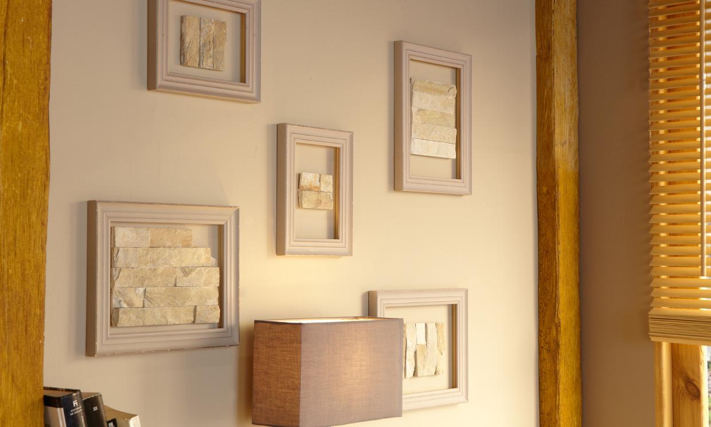 Ideas deco paredes 39 encuadradas 39 foto - Enmarcar cuadros leroy merlin ...