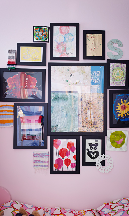 Ideas deco paredes 39 encuadradas 39 foto 1 - Ikea cuadros grandes ...