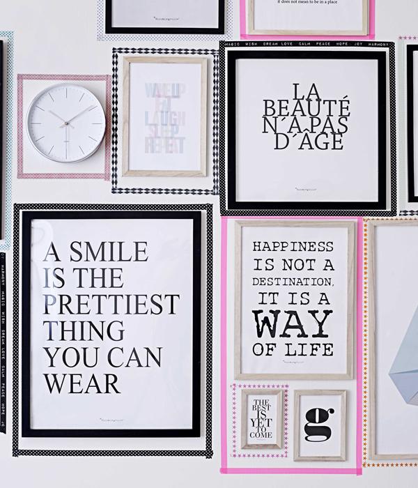 decora tus paredes con composiciones de cuadros o marcos - Decorar Paredes Con Cuadros