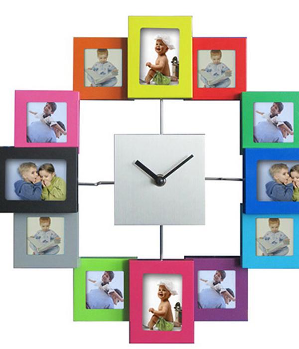Relojes que marcan las horas y el estilo - Hacer reloj de pared con fotos ...