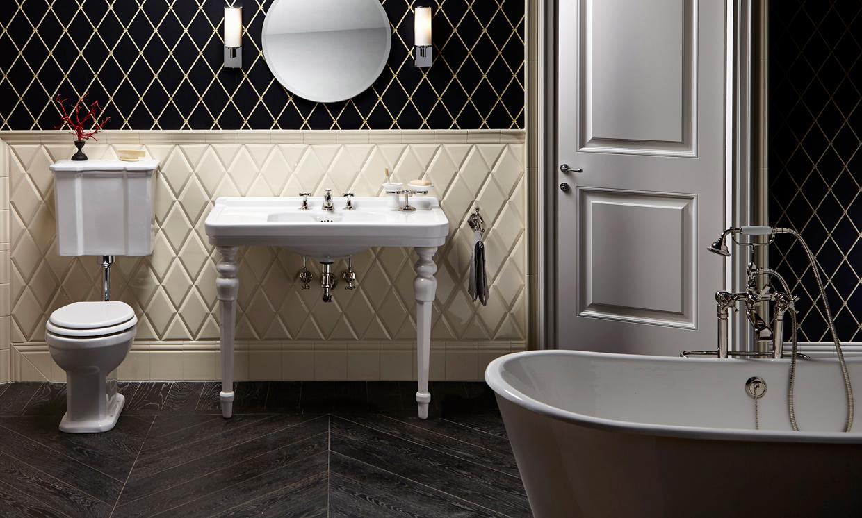 Ideas Baños Rectangulares:Para las paredes nos gusta apostar por los azulejos rectangulares y