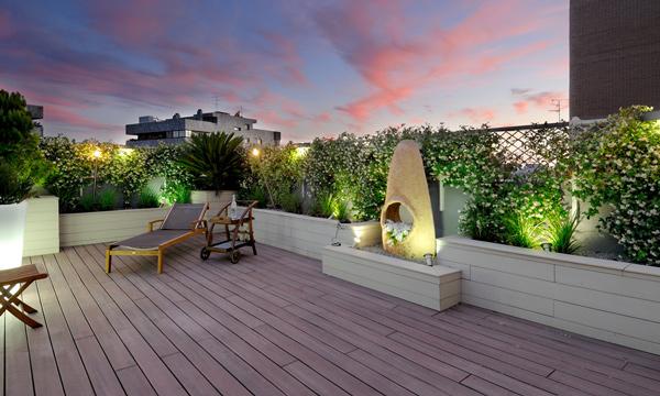 Decoraci n exterior preparada para disfrutar de la terraza for Terrazas en azoteas pequenas
