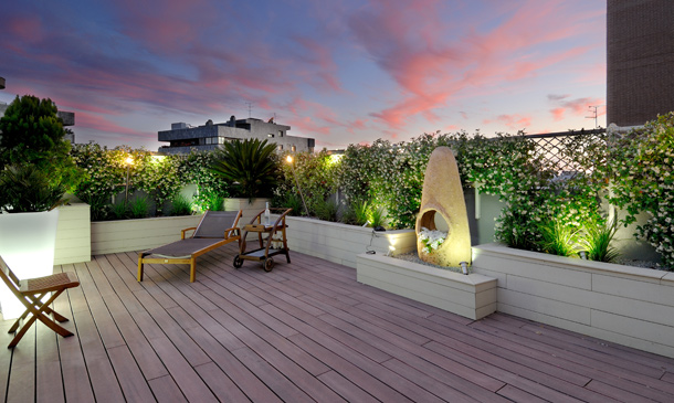 Decoraci n exterior preparada para disfrutar de la terraza - Decoraciones de terrazas ...