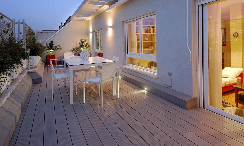 Decoraci n exterior preparada para disfrutar de la for Viviendas sobre terrazas