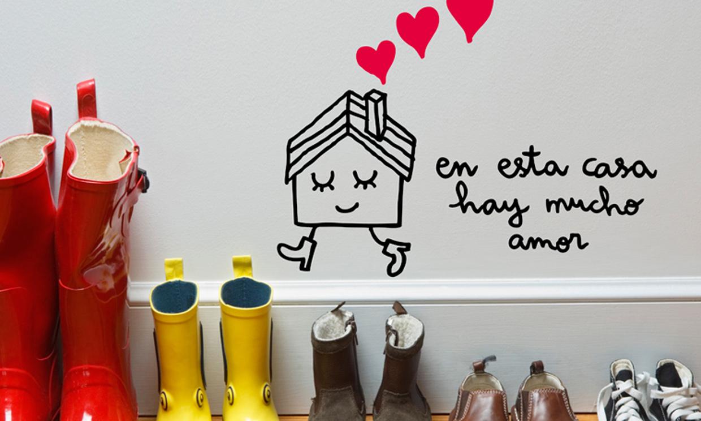 Vinilos con mensaje palabras que decoran y personalizan for Vinilos decorativos hogar